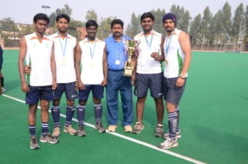 Income tax hockey team players participated & Won in the All India Civil Services Hockey Tournament, Held at Kurukshetra, Haryana,2014.